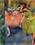 edgar degas two dancers in the foyer paintings