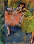 edgar degas two dancers in the studio painting