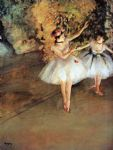 edgar degas two dancers on a stage paintings