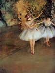edgar degas two dancers on stage painting