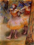 edgar degas two dancers painting
