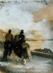 edgar degas two riders by a lake painting