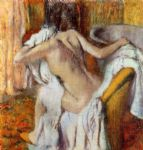 edgar degas woman drying herself i paintings