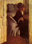 love original paintings - woman putting on her gloves by edgar degas
