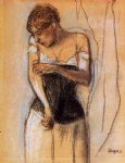 edgar degas woman touching her arm paintings