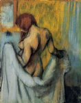 woman with a towel by edgar degas painting