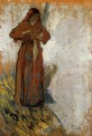 woman with loose red hair by edgar degas painting