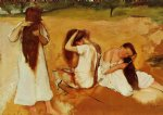 edgar degas women combing their hair painting 35578