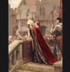 edmund blair leighton famous paintings - a little prince likely in time to bless a royal throne by edmund blair leighton