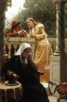 edmund blair leighton famous paintings - a stolen interview by edmund blair leighton