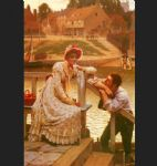 edmund blair leighton famous paintings - courtship by edmund blair leighton