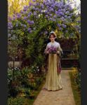 edmund blair leighton famous paintings - lilac by edmund blair leighton
