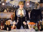 edouard manet art - a bar at the folies by edouard manet