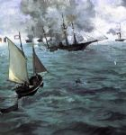 edouard manet famous paintings - battle of the kearsarge and the alabama by edouard manet