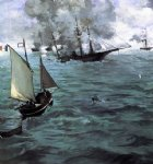 edouard manet art - battle of the kearsarge and the alabama by edouard manet