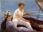 edouard manet art - boating by edouard manet