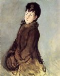 edouard manet isabelle lemonnier with muff painting
