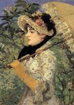 jeanne spring by edouard manet painting