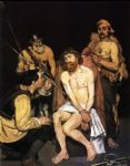 jesus watercolor paintings - jesus mocked by the soldiers by edouard manet