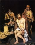 jesus original paintings - jesus mocked by the soldiers by edouard manet