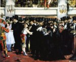 edouard manet famous paintings - masked ball at the opera by edouard manet