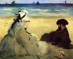 edouard manet on the beach painting 85678