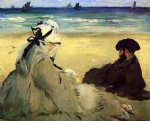 edouard manet on the beach painting-35055