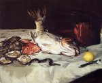 edouard manet still life with fish painting 35071