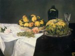 edouard manet still life with melon and peaches painting 35072