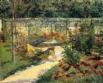 the bench by edouard manet painting