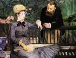 the conservatory by edouard manet painting