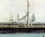 the pier at boulogne by edouard manet painting