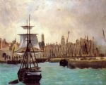 the port of calais by edouard manet painting