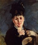 woman with umbrella by edouard manet painting