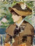 girl original paintings - young girl on a bench by edouard manet