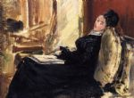 young woman with book by edouard manet painting