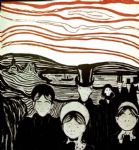 edvard munch famous paintings - anxiety by edvard munch