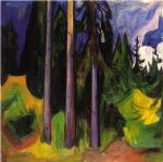 edvard munch famous paintings - forest by edvard munch