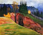 edvard munch famous paintings - from thuringewald by edvard munch