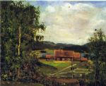 edvard munch famous paintings - landscape  maridalen by oslo by edvard munch