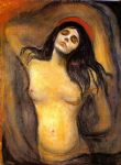 edvard munch watercolor paintings - madonna by edvard munch