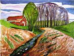 edvard munch spring landscape at the red house 1935 posters