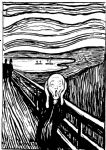 edvard munch original paintings - the scream white and black by edvard munch