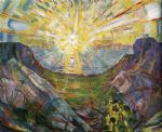 the sun 1 by edvard munch painting