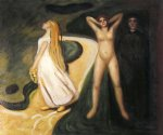 woman in three stages by edvard munch painting