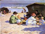 a day at the seashore by edward henry potthast painting