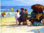 a family outing by edward henry potthast painting