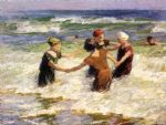 a happy group by edward henry potthast painting