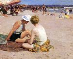 edward henry potthast acrylic paintings - a summer vacation by edward henry potthast