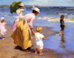 edward henry potthast at the beach painting 77026
